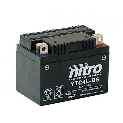 NITRO Batterie YTC4L-BS 12 Volt Geltechnologie Wartungsfrei, gefüllt und geladen