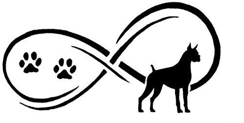 WYG Pegatinas para coche, 2 unidades, diseño de perro boxeador con personalidad animal, 17,8 x 8,9 cm, color negro