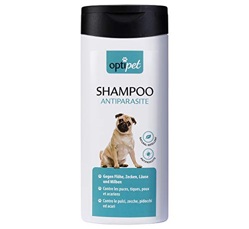OptiPet 250ml Anti-Parasiten Shampoo für Hunde gegen Parasiten Flohshampoo Schutz vor Parasiten