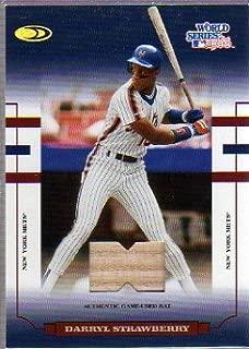 2004 Donruss World Series Blue Material Bat #64 Darryl Strawberry Mets Game-Used Memorabilia Card Serial #'d/50