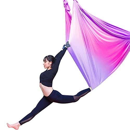 YANGHUI 5m Hängematte Aerial Yoga Swing Set, Ultra Starke Antigravity Yoga Hängematte, Antennensatz, Schlinge für Antigavität Yoga Inversion Übungen,C