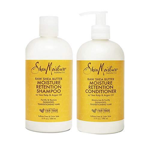 Shea Moisture Raw Shea Butter Restorative Shampoo 13oz and Conditioner Bundle 13oz