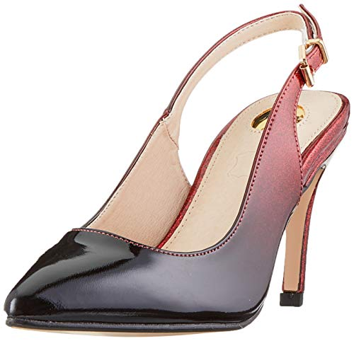 Buffalo Damen ALVA Slingback Pumps, Mehrfarbig (Red/Black 000), 39 EU