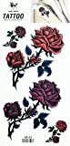 PARITA Tattoos Fake Rose Happy Valentines Day Cartoon Temporary Tattoo Stickers Body Arm Shoulder Chest Bottom & Back Make Up for Guys Men Women Teens (1 Sheet.) (07)