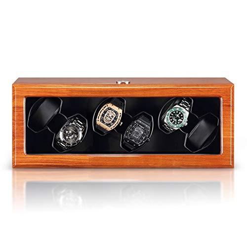 Watch Enrollador 2/4/6/8 Reloj Enrollador Reloj Caja De Presentación A Prueba De Polvo Caja De Almacenamiento De Reloj con Motor Silencioso Mabuchi Adecuado para Relojes De Pulsera Para Hombres Y Muje