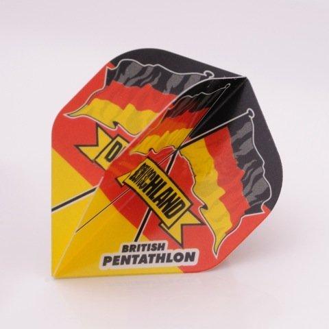 3 x SETS PENTATHLON Darts Flights Deutschland Standard