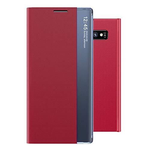 Oihxse Compatibile con [Galaxy S10+/S10 Plus Cover] Smart Protettiva Anti-graffio,Clear View Flip PC...