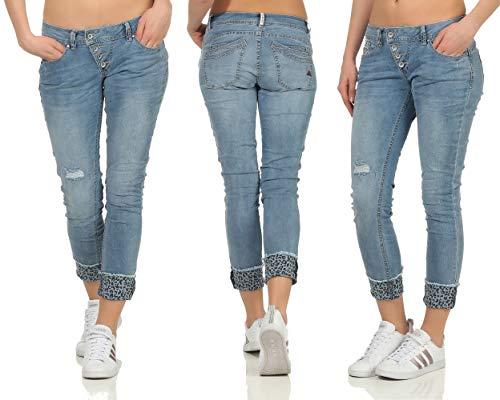 Buena Vista Damen Jeans Malibu Slim Fit verkürzt Blue (82) S