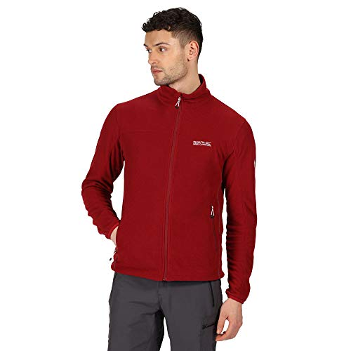 Regatta Herren Stanner Mini Grid 2 untere Reißverschlusstaschen, Stretchbindung an Ärmelbündchen, XL Delhi Rot fleece