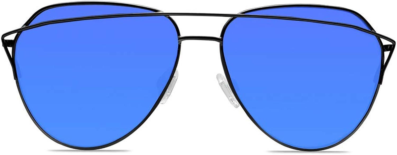 Fashion Aviator sunglasses   Crossbar Polarized HD Lenses   UV400 58MM