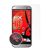 atFolix Schutzfolie kompatibel mit HTC One M8 / M8s Folie, entspiegelnde & Flexible FX Bildschirmschutzfolie (3X)