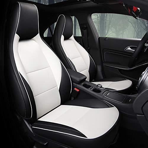 MAOMAOQUEENss Fatto su Misura-PU Coprisedili Auto Compatibile con Mercedes-Benz Gla/Cla/Classe A ECC,Sedile Completamente Circondato,Compatibile con Airbag,Ecologico, 5 Colori Disponibili,B