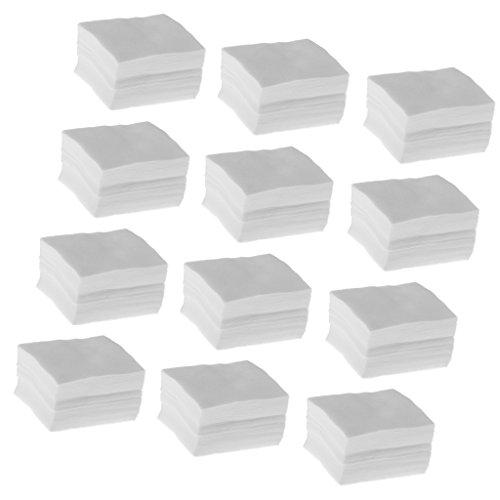 Sharplace 1200pcs Carré Cellulose En Coton Pour Nail Art Ongle Démaquillage Jetable non-réutilisable