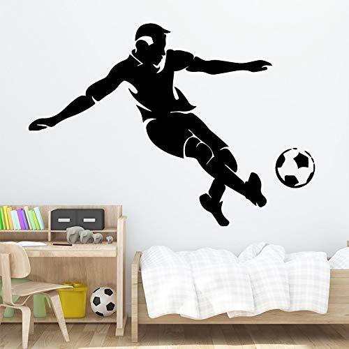 BailongXiao Fußballspieler wandaufkleber Moderne Mode wandaufkleber einrichtungsgegenstände Wohnzimmer Hintergrund wandkunst Aufkleber 45x63 cm