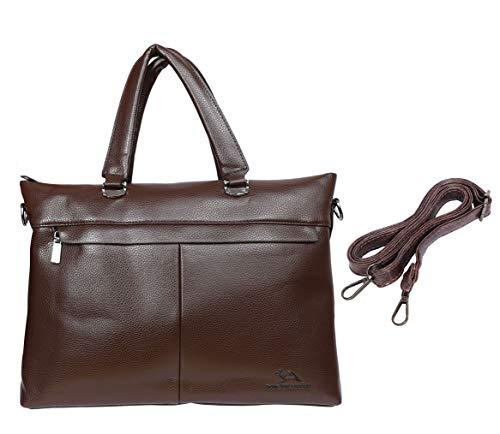 The Dodo Store BG-0019 - Bolso de mano para portátil (piel), color marrón