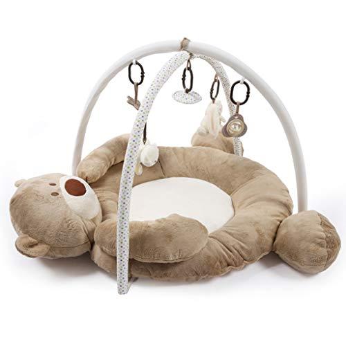 Lvsenlin Couverture de Jeu d'ours de Musique de bébé, Cadre Infantile de Forme de Forme Physique, Tapis Rampant écologique, Jouets éducatifs pour 0-2 Ans