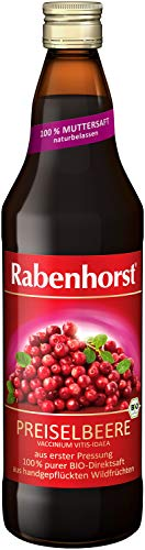 Rabenhorst Bio Preiselbeere Muttersaft, 4er Pack (4 x 700 ml)