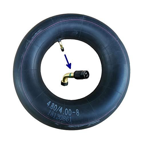 Schubkarrenschlauch 4.80/4.00-8 Autoventil abgewinkelt mit Ventilschlüssel
