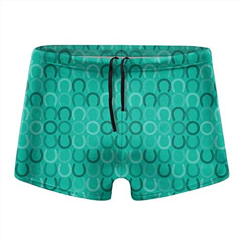 XCNGG Patrón de Flores Verdes Calzoncillos Tipo bóxer de Secado rápido para Hombres Traje de baño Shorts Troncos Traje de baño-L