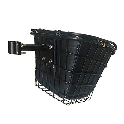SUIBIAN Elektro-Scooter für Erwachsene, vorne und hinten Korb, Feste Halterung, optional wasserdichte Liner, Doppel Unterstützung, 25Kg Last, geeignet für dünnes Rohr Scooter,B