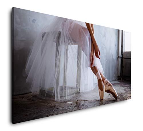 Paul Sinus Art Sexy Frau auf einem Stuhl 120x 60cm Panorama Leinwand Bild XXL Format Wandbilder Wohnzimmer Wohnung Deko Kunstdrucke
