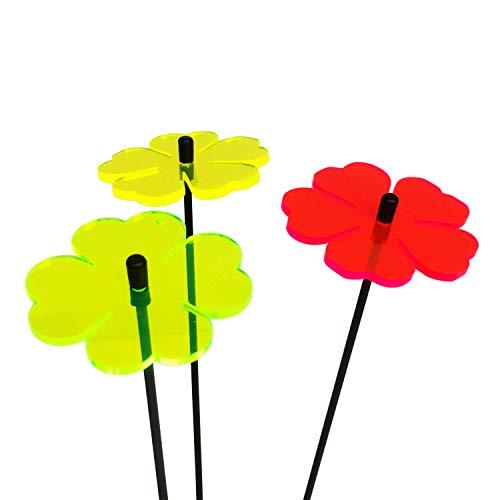 SunCatcher Ltd. 3X Fleur Attrape Soleil, Bouquet de Soleil avec 3 Bouchons de Jardin décoratifs, 25cm de Haut, idée Cadeau pour Chaque Jardin, Couleur:Red/Yellow/Green (3) TR