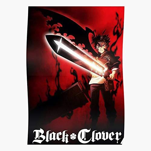 Generic Clover Bulls Fifth Anime Black King Dark Magic Asta Wizard Home Decor Wall Art Print Poster ! Home Decor Wandkunst drucken Poster !