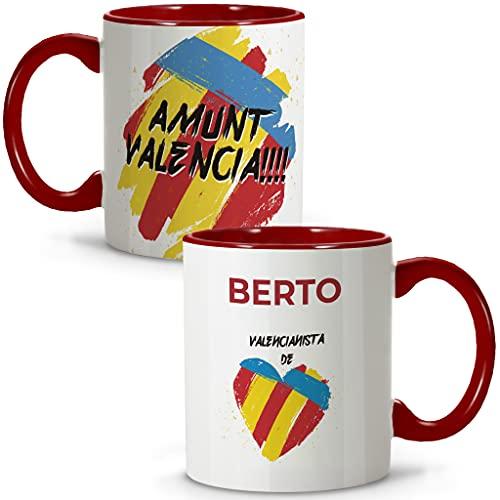 LolaPix Taza Valencia. Tazas Personalizadas con Nombre. Taza Desayuno fútbol. Regalos Personalizados. Varios diseños.