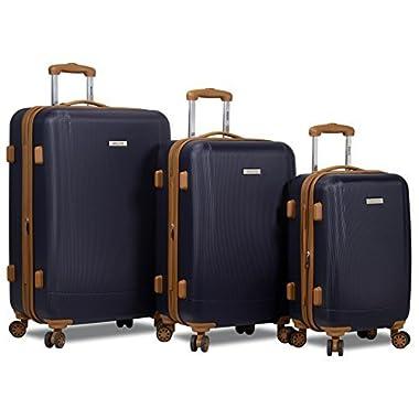 Dejuno Legion 3-pc Hardside Spinner TSA Combination Lock Luggage Set - Navy