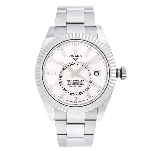 Rolex Sky-Dweller quadrante bianco automatico Mens Oyster Watch 326934WSO