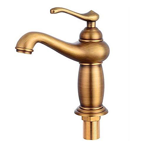 BH-JJSMGS,Baño de lujo moderno lavabo grifo, latón caliente y frío lavabo lavabo grifo retro lámpara forma solo agujero