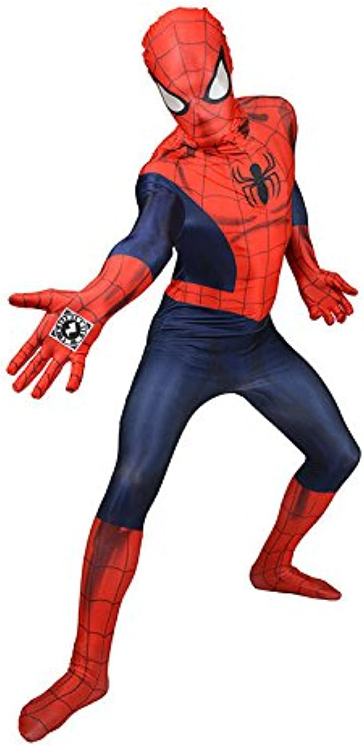 Marvel Spiderman Digital Morphsuit Lizenzware blau rot L