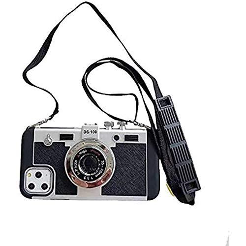 Una mini funda protectora retro para la cámara del iPhone 12 Pro max, equipada con una correa para el hombro extraíble