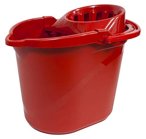 PAMEX - Cubo 15L UNO con Escurridor (Rojo)