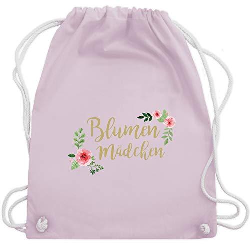 Shirtracer Hochzeit - Blumenmädchen retro - Unisize - Pastell Rosa - retro turnbeutel - WM110 - Turnbeutel und Stoffbeutel aus Baumwolle