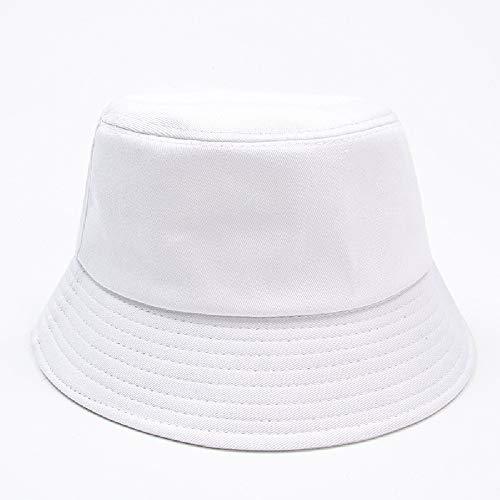 Sombrero Pescador, Soft Cotton Sun Cap,Plegable Bucket Hat Adecuado para Viajes de Pesca al Aire Libre (Blanco)