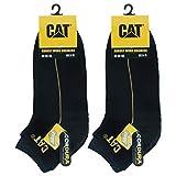 Caterpillar 6 Pares Robust Work Sneaker, calcetines de trabajo en algodón suave, puntera y talón reforzados, CORDURA Fiber Technology (Negro, 43-46)