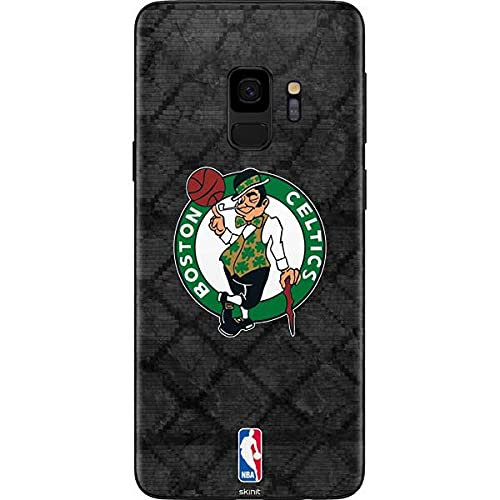 Skinit Decal Phone Skin Compatible with Samsung Galaxy S9 - Officially Licensed NBA Boston Celtics Dark Rust Design