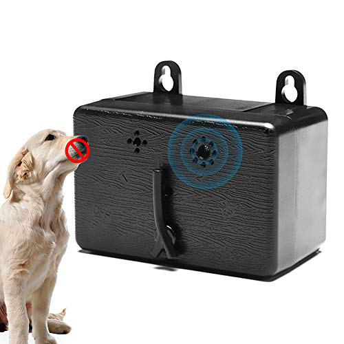 Ultrasonic Anti Barking Device for Outdoor Wild Dog, Auto Dog Barking Deterrent Devices, 3 Frequency Adjustable, Max. Distance of 50 Feet Control Dog Bark, Portable & Hanging