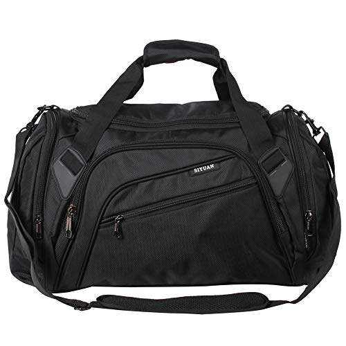 SIYUAN Gym Bag for Men Women Sports Gear Equipment Bag Athletic Outdoor Duffel Bag Workout Basketball Bag Black Small