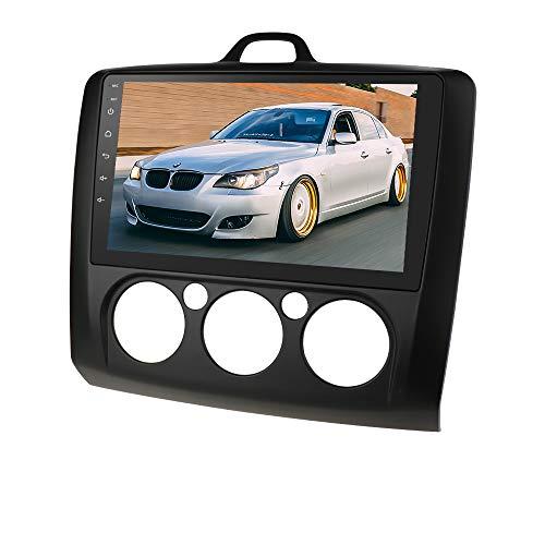 Doppelte Lärm 9 Zoll HD Touchscreen Auto Stereo Multimedia-Player GPS Sat NAVI mit Bluetooth USB FM Radio Audio Headunit für Ford Focus Exi MT 2004-2011 (Schwarz)
