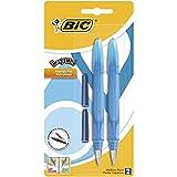 BIC EasyClic Stylos-Plume Rechargeables - Violet, Bleu ou Turquoise (sans choix...