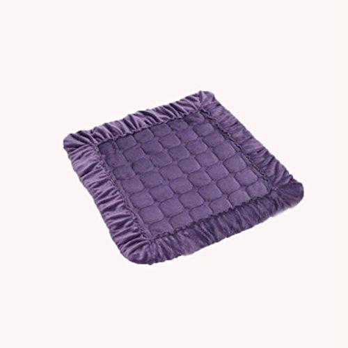 KKY-ENTER Coussin Coussins Violet Couleur unie Carré Coton Doux Confortable Respirant Coussins Coussin Fesses Étanche à la poussière Antibactérien Bande fixe Tapis de chaise rigide Tapis de chaise Épaisseur: 0.4cm Taille: 40 * 40cm