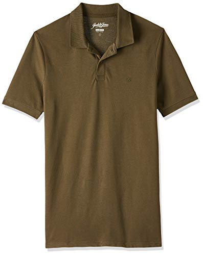 JACK & JONES Herren JJEBASIC Polo SS NOOS Poloshirt, Grün (Olive Night Detail: Slim Fit), XX-Large