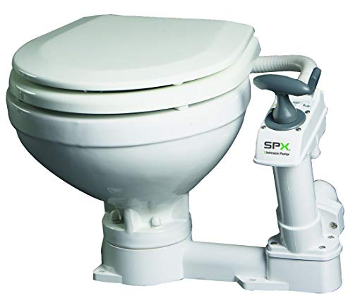 Johnson Pump AquaT Toiletten mit manueller Pumpe kompakt Becken Bootstoilette Bordtoilette