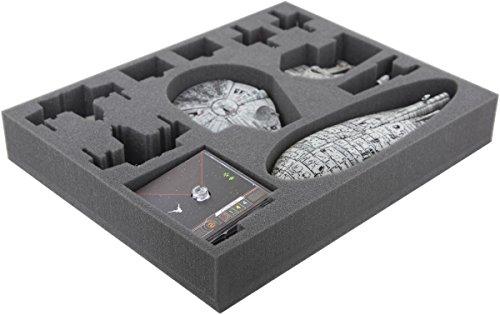 FSJP050BO 50 mm Full-Size Schaumstoffeinlage kompatibel mit Star Wars X-Wing: Falke, YT-2400, U-Wing und Transporter
