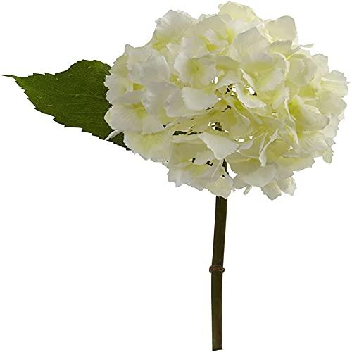 YYHMKB Crema de Flores Artificiales de hortensias Casi Naturales de 7 '(Juego de 6)