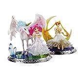2 Estilos Anime Sailor Moon Tsukino Crown Chibi-Sailor Chibi Moon Figura de acción figurita Modelo J...