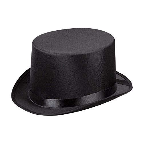 Boland 04133 - Hut Gala, schwarz, Zylinder, Einfassband, elegant, Filz, one size, 20er Jahre, Gatsby, Karneval, Halloween, Fasching, Mottoparty, Verkleidung, Theater