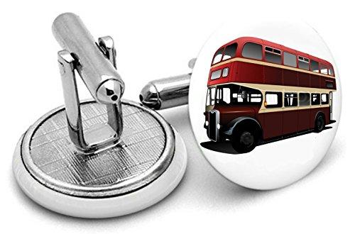 London Bus ~ plongeurs cadeaux ~ fabriqué à la main Boutons de manchette pour hommes Boutons de manchette, anniversaires, Wedding. Unisexe Boutons de